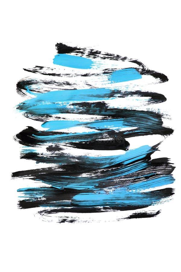 Dipinga i colpi su bianco illustrazione vettoriale
