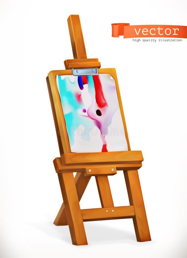 Dipinga il cavalletto Innesta l'icona illustrazione di stock