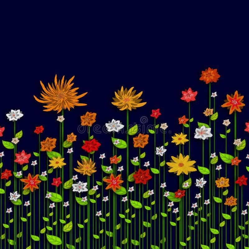 Dipinga il crisantemo illustrazione di stock