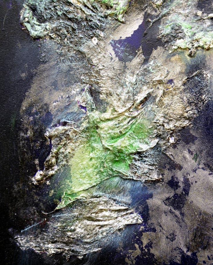 Dipinga il fondo creativo porpora blu della pittura fluida dei colpi della spazzola Fondo dell'estratto della pittura dell'acquer fotografie stock libere da diritti