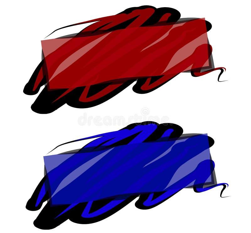 Dipinga il logos della pagina Web di turbinio fotografie stock libere da diritti