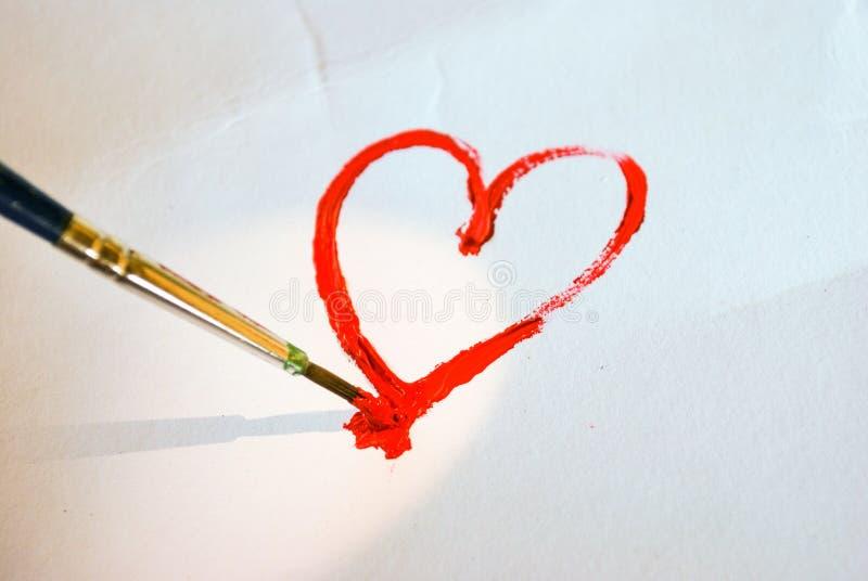 Dipinga l'amore fotografie stock libere da diritti