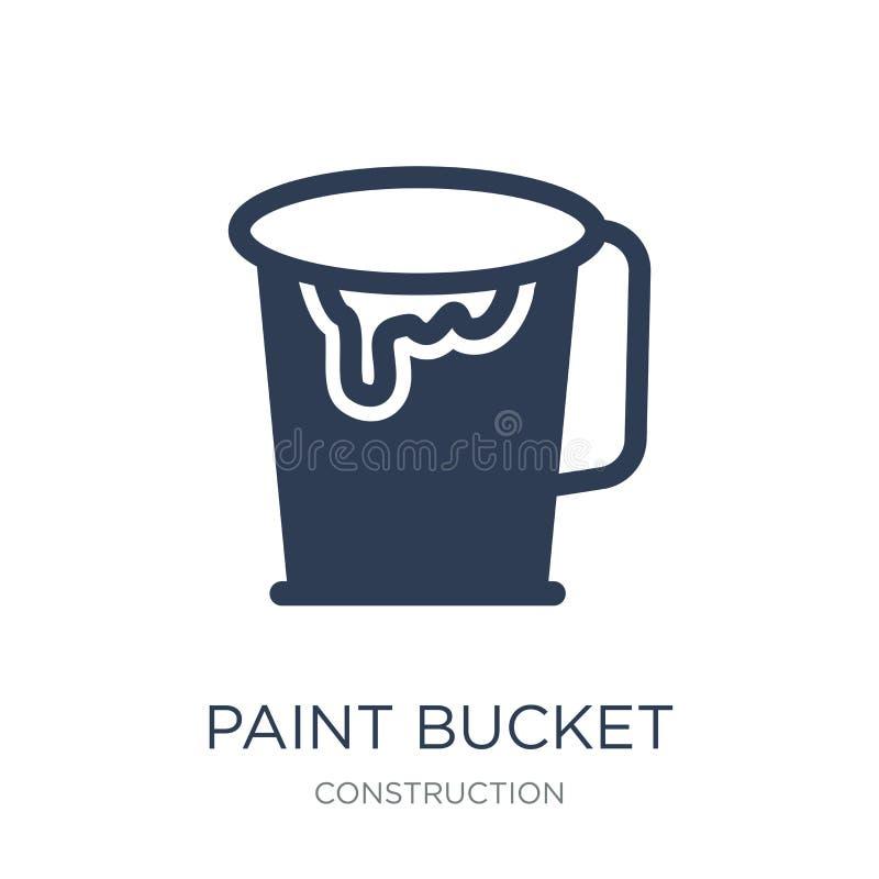 Dipinga l'icona del secchio  illustrazione di stock