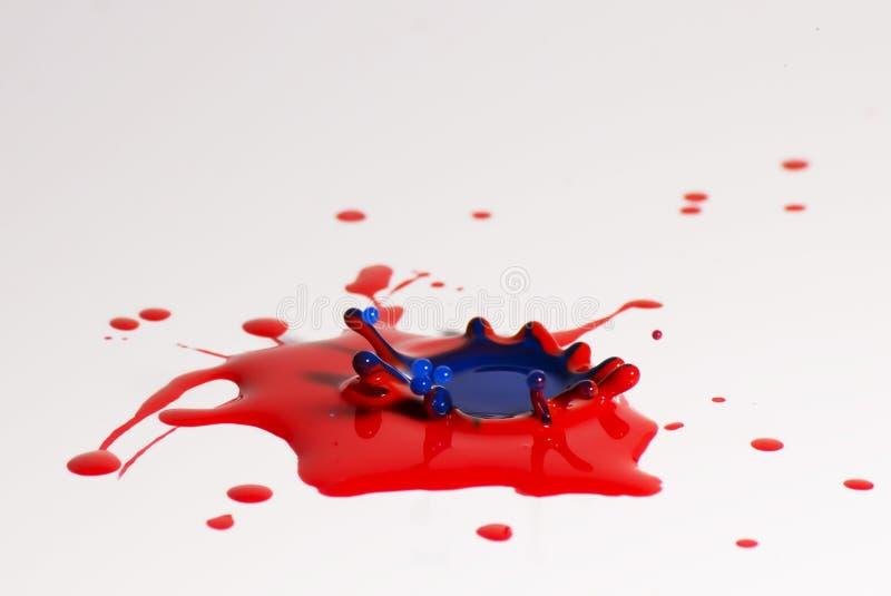 Dipinga la collisione di goccia fotografia stock