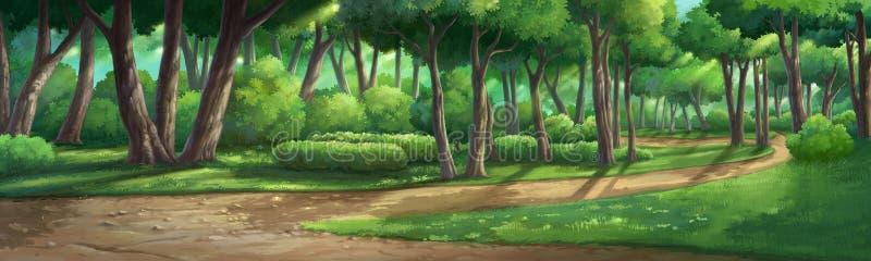 Dipinga le illustrazioni in giardino e naturale illustrazione di stock