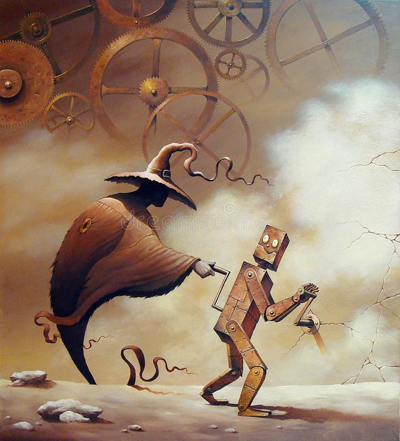 Dipinti di un artista russo Sergey Pokotilov royalty illustrazione gratis