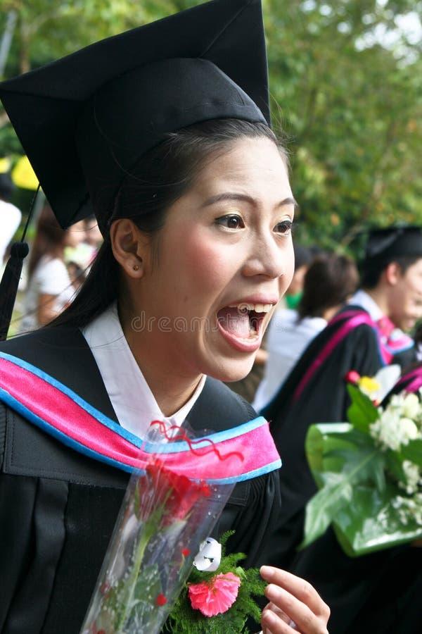 Diplômé d'Asiatique photo libre de droits