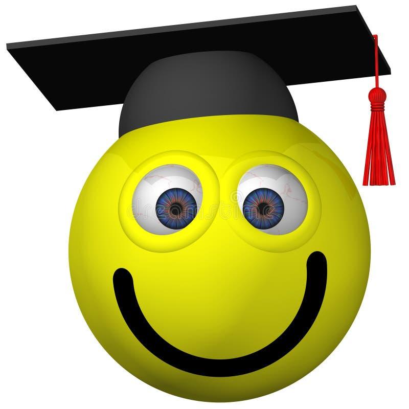 Diplômé de smiley illustration stock