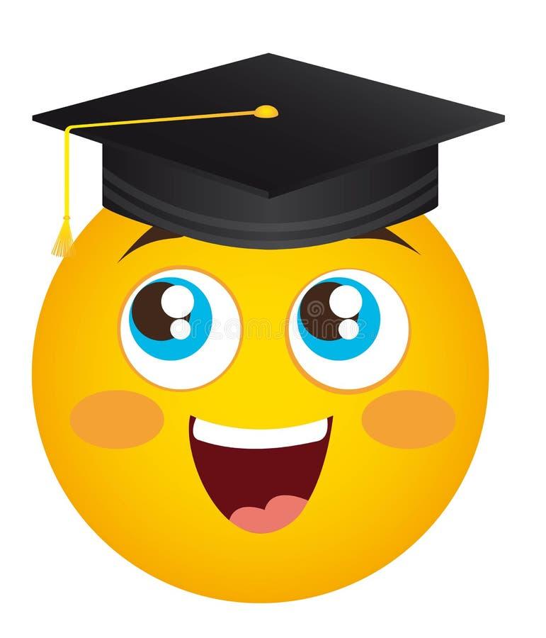 Diplômé heureux de visage illustration stock