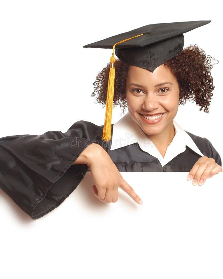 Diplômé se dirigeant à l'espace de copie images libres de droits