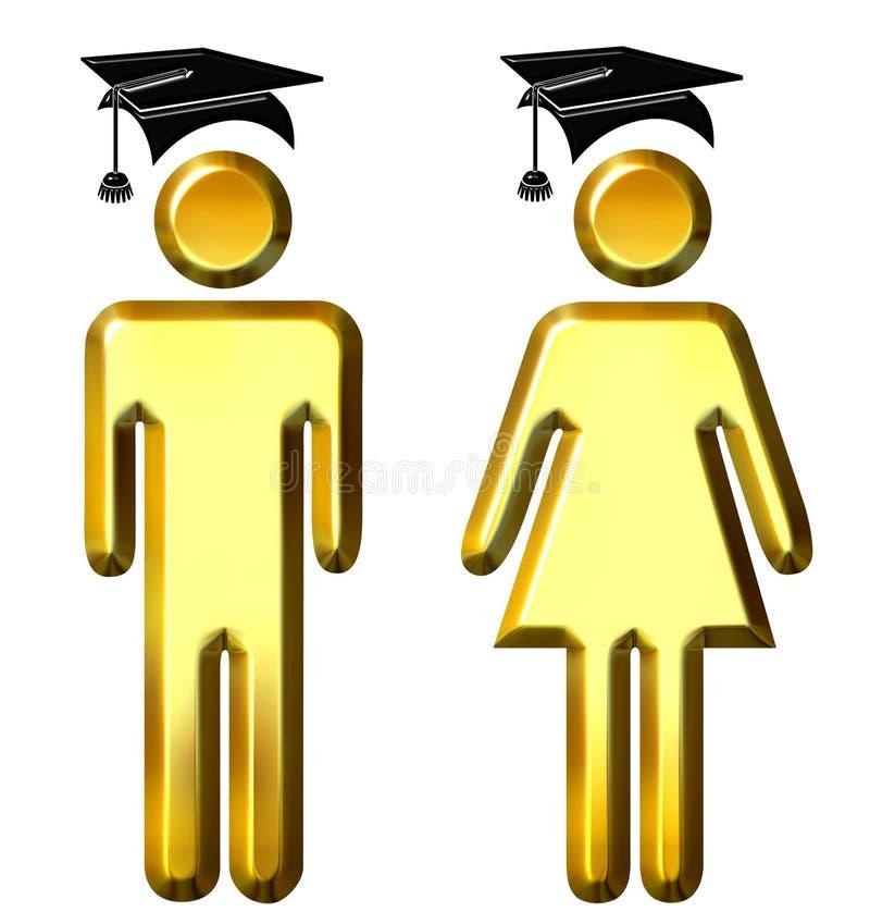 diplômés illustration libre de droits