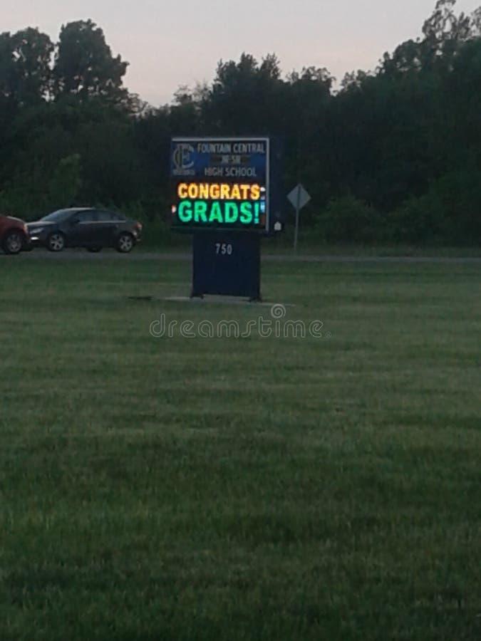 Diplômés de Congrats photos stock