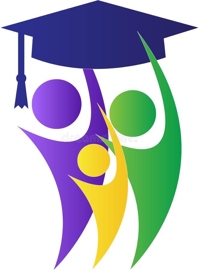 Diplômés de Successul illustration libre de droits