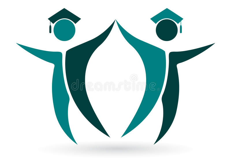 Diplômés heureux illustration stock
