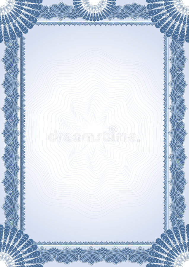 Diplôme de certificat illustration libre de droits