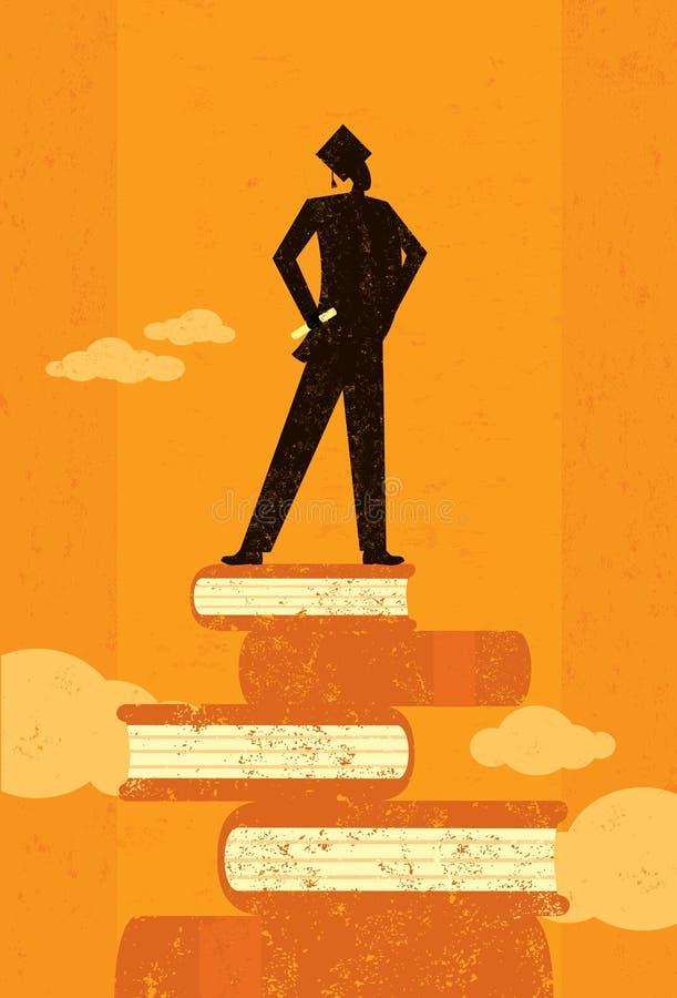Diplômé ambitieux illustration de vecteur