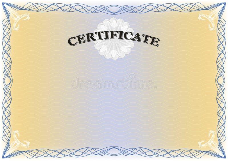 Diplôme licencié de certificat illustration libre de droits