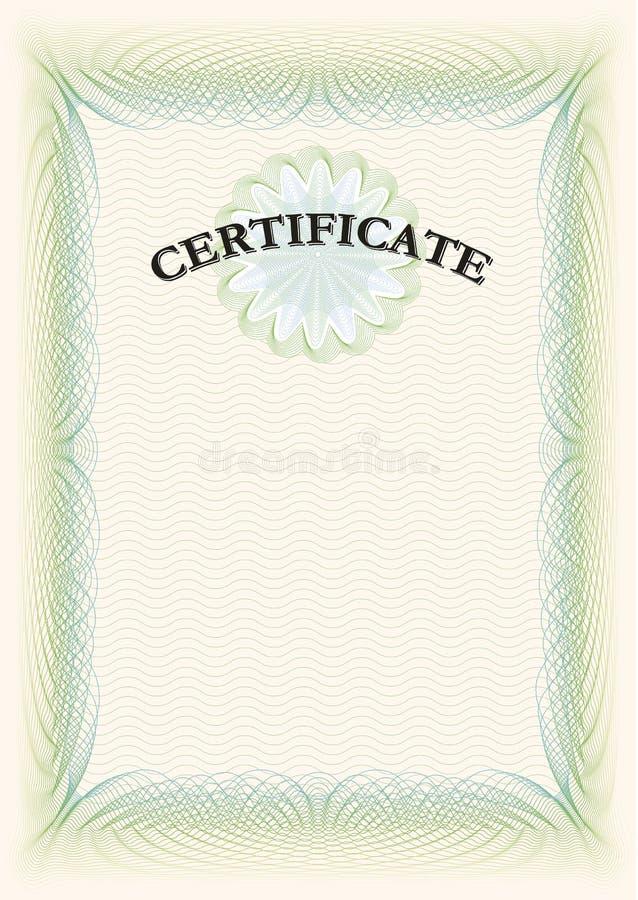 Diplôme licencié de certificat illustration de vecteur