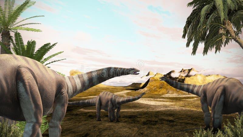 Diplodocus ilustração royalty free