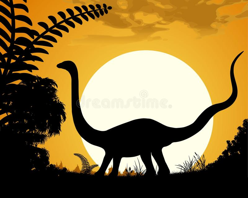 Diplodocus stock illustrationer