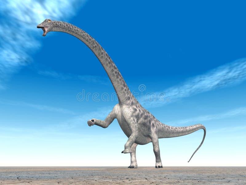 Diplodocus del dinosaurio stock de ilustración