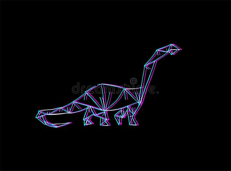 Diplodocus dinosaur illustrativo royalty illustrazione gratis