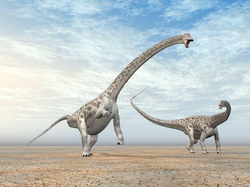 Diplodocus do dinossauro ilustração do vetor
