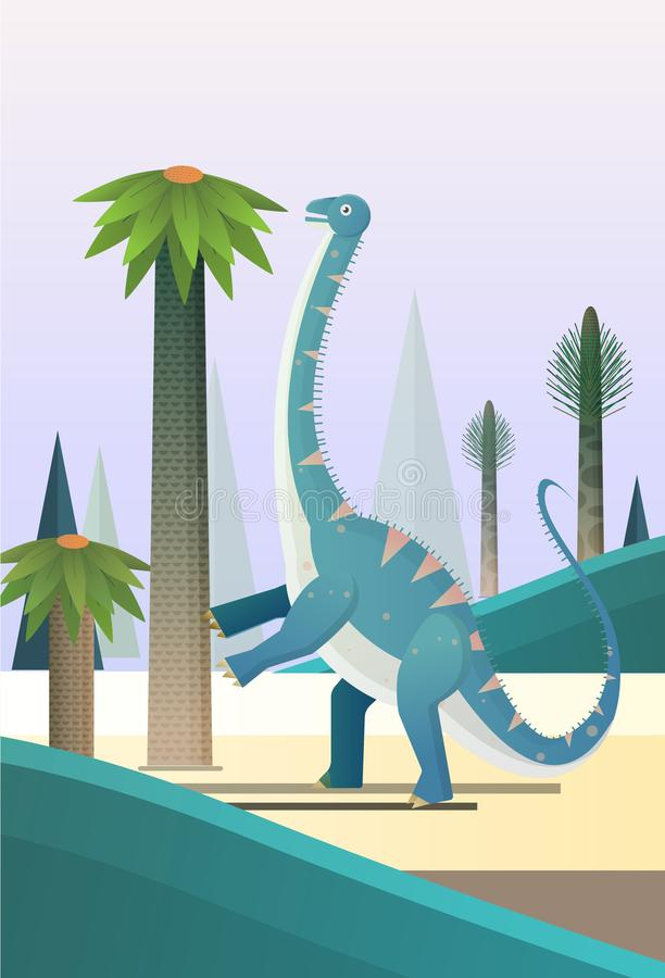 Diplodocus giant plant eaters. Diplodocus sauropods giant plant eaters lagest land animals stock illustration
