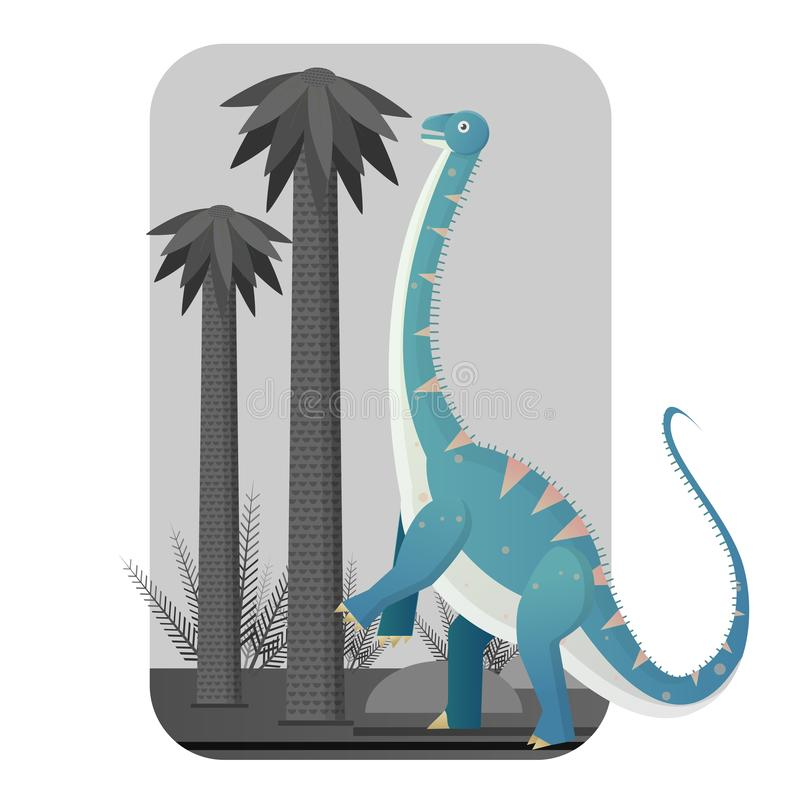 Diplodocus giant plant eaters. Diplodocus sauropods giant plant eaters lagest land animals royalty free illustration