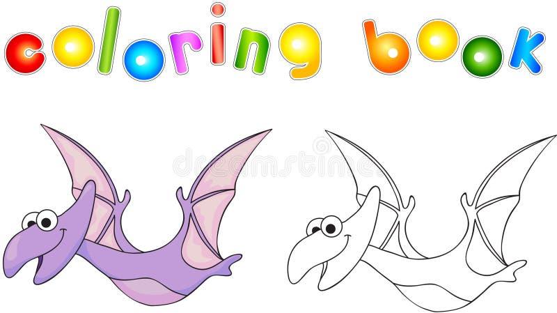Diplodocus sveglio divertente Gioco educativo per i bambini Libro di coloritura illustrazione vettoriale