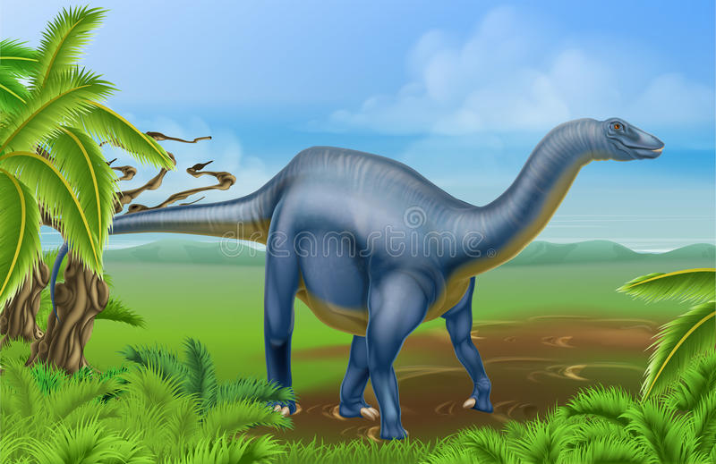 Diplodocusdinosaurus royalty-vrije illustratie
