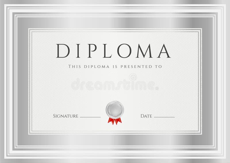 Diplom-/?ertificate-Preisschablone. Feld lizenzfreie abbildung