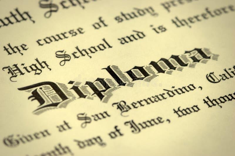 Diplom lizenzfreie stockfotografie