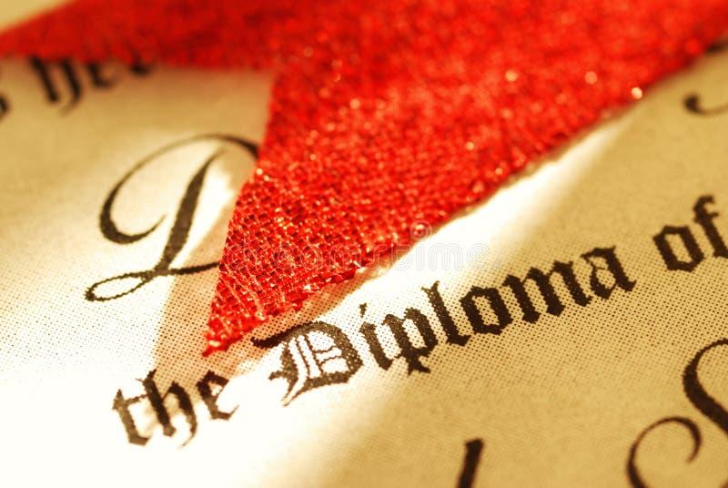 Diplom lizenzfreie stockbilder