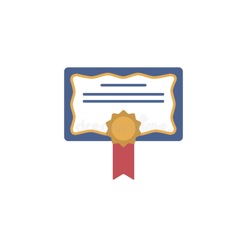 Diplom certifikat, utmärkelsesymbol vektor illustrationer