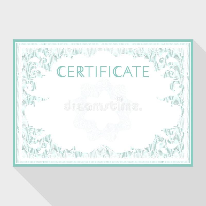 Diplom- och certifikatdesignmall vektor illustrationer