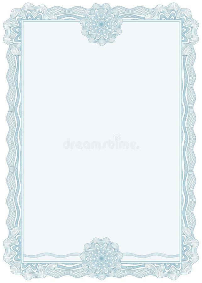Diplom oder Bescheinigung/Rand/A4/Vektor lizenzfreie abbildung