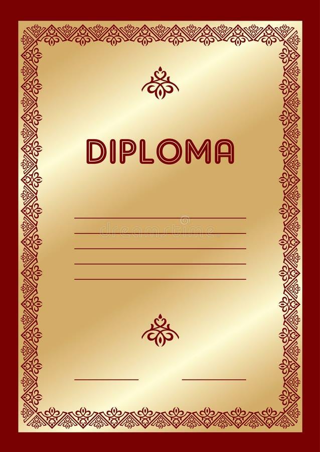 Diploma ilustração royalty free