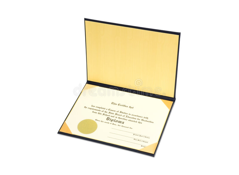 Diploma fotografía de archivo