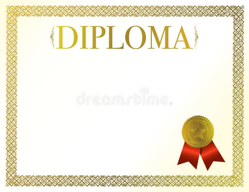 Download Diploma stock vector. Image of frame, document, paper - 17703921