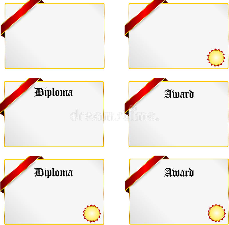 Download Diploma stock vector. Image of color, decoration, distinction - 21885064