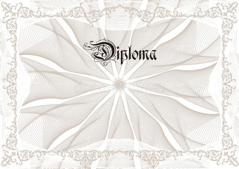 Diploma stock illustratie