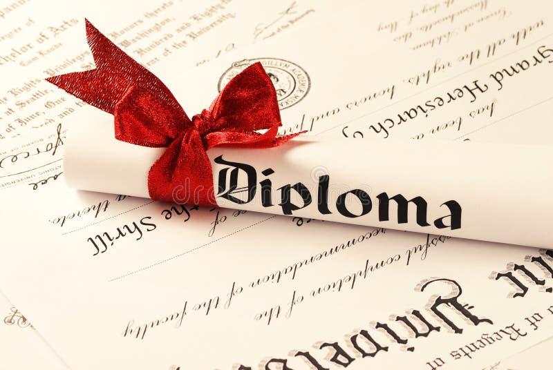 Diploma stock fotografie