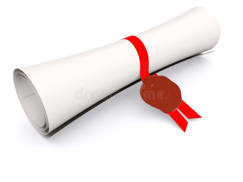 Diploma ilustração stock