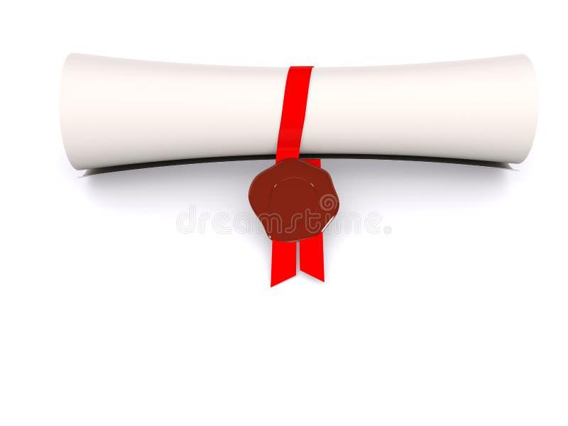 Diploma ilustração do vetor