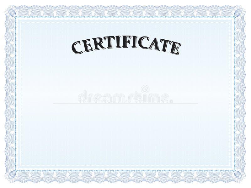 Diploma blu del laureato del certificato immagini stock libere da diritti