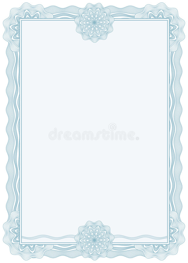 Diploma or certificate / border / A4 / vector royalty free illustration