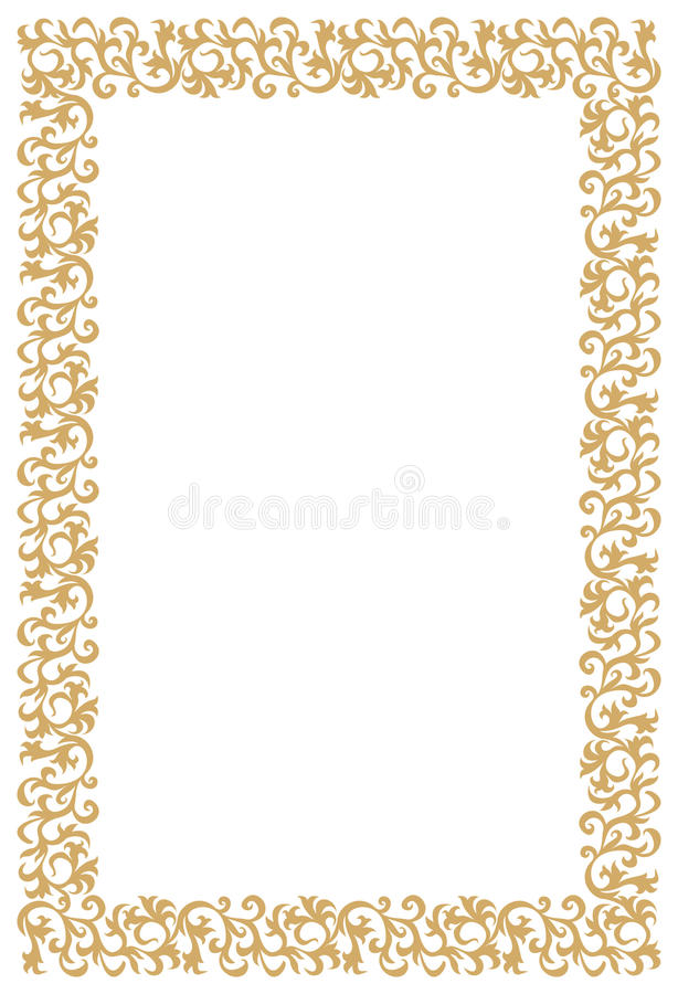 Download Diploma Or Certificate Golden Frame Stock Vector - Image: 18855545