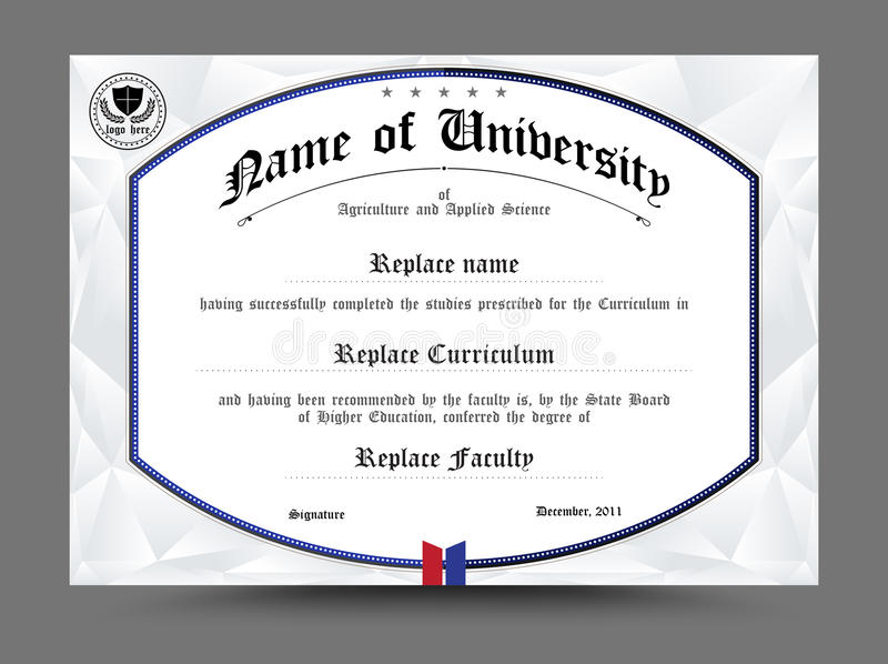 Diploma certificate template design vector illustration stock download diploma certificate template design vector illustration stock vector illustration of graduation yelopaper Images
