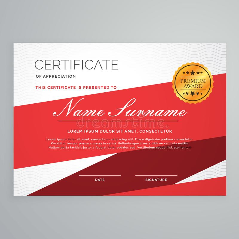 Diploma certificate template vector design in red color stock vector download diploma certificate template vector design in red color stock vector illustration of university yelopaper Gallery